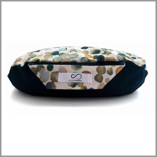 Coussin de méditation yoga - demi-lune - vert kaki - Cosy Cotton