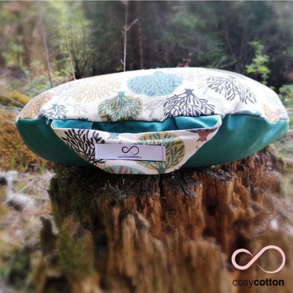 Coussin de méditation yoga - demi-lune - arbres - Cosy Cotton