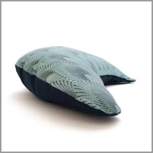 Coussin de méditation - demi-lune - turquoise - Cosy Cotton