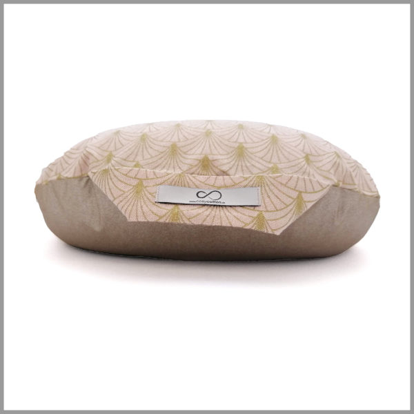 Coussin de méditation yoga - demi-lune - rose scintillant