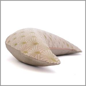 Coussin de méditation yoga - demi-lune - rose scintillant - Cosy Cotton