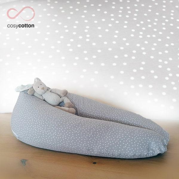 Coussin maternité allaitement - ORGANIC - gris - Cosy Cotton