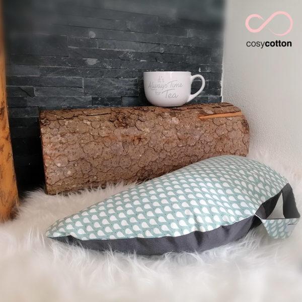 Coussin de méditation - demi-lune - menthe - Cosy Cotton