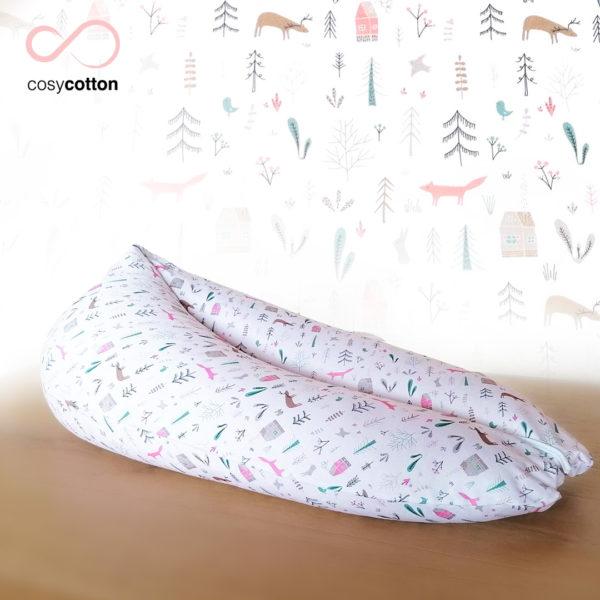 Coussin maternité allaitement - ORGANIC - foret - Cosy Cotton
