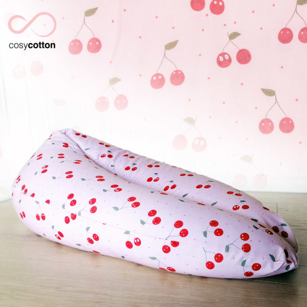 Coussin maternité allaitement - ORGANIC - cerises - Cosy Cotton