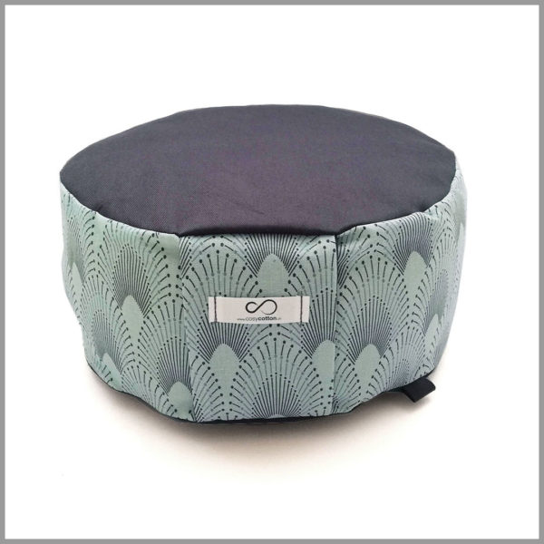Zafu - coussin méditation - rond - turquoise - Cosy Cotton